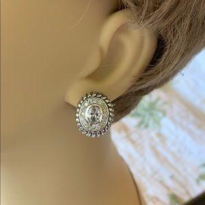 Pretty Sterling & Gold Earrings